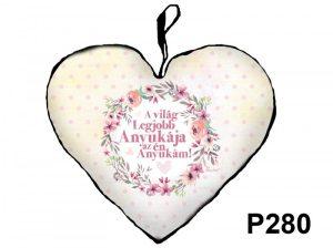 Ajándék anyának, Anyák napi ajándék, szív párna