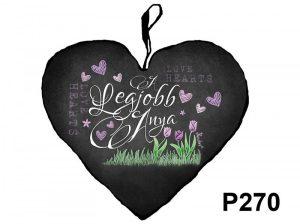 ajándék anyáknak, anyák napi ajándék, nagy szív párna