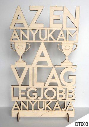 Ajándék anyának, dekor fa tábla