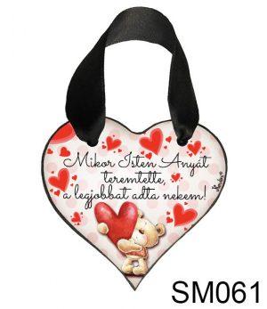Anyák napi ajándék, szív akasztóval