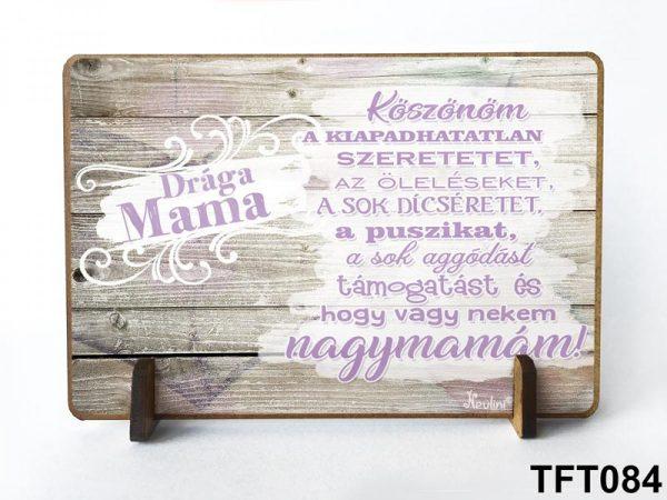 Ajándék nagymamának, asztali dekoráció