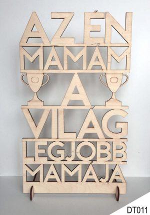 Anyák napi ajándék, dekor fa tábla