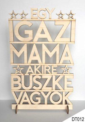 Ajándék nagymamának, dekor fa tábla