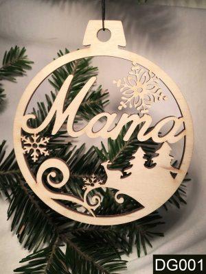 Ajándék nagymamának, karácsonyfadísz